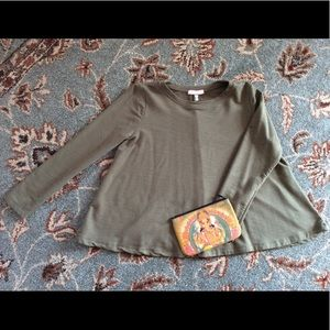 The cutest khaki Anthropologie top by Eri & Ali